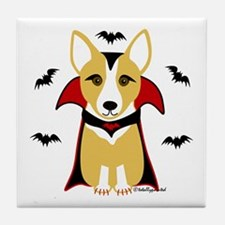 Count Corgi - Vampire Tile Coaster