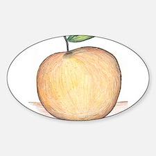 Peach Oval Decal