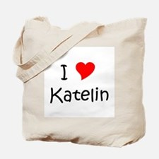 Cute I love katelin Tote Bag