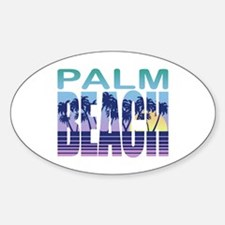 Palm Beach Oval Decal