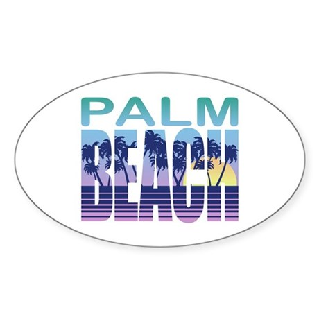 Palm Beach Oval Sticker