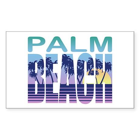 Palm Beach Rectangle Sticker