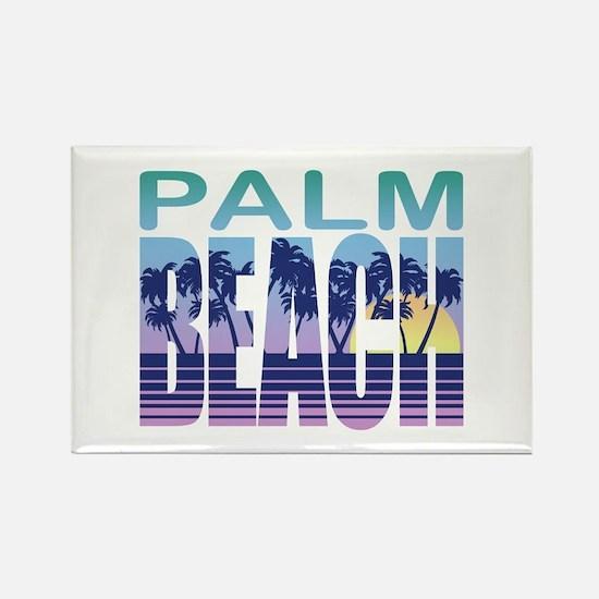 Palm Beach Rectangle Magnet