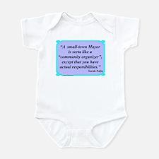 """Small Town Mayor"" Infant Bodysuit"