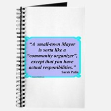 """""""Small Town Mayor"""" Journal"""