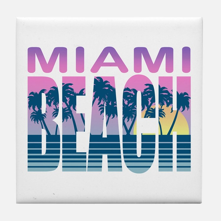 Miami Beach Tile Coaster