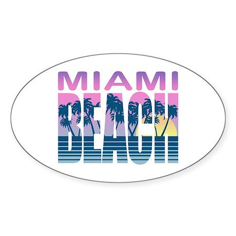 Miami Beach Oval Sticker