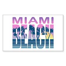 Miami Beach Rectangle Decal