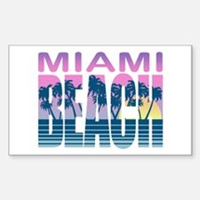 Miami Beach Rectangle Decal