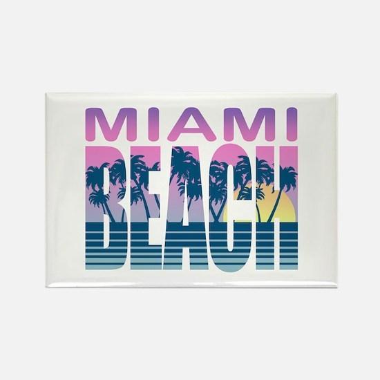 Miami Beach Rectangle Magnet
