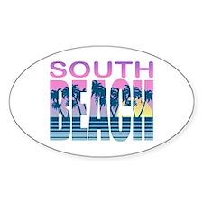 South Beach Oval Decal