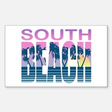 South Beach Rectangle Decal