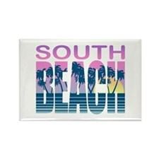 South Beach Rectangle Magnet