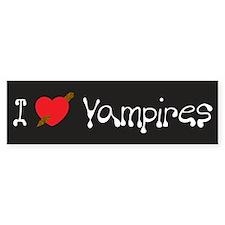 I Love Vampires Bumper Bumper Sticker