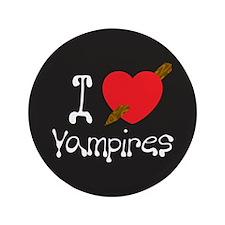 "I Love Vampires 3.5"" Button"