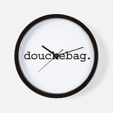 douchebag. Wall Clock