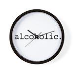 alcoholic. Wall Clock