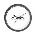 clean. Wall Clock