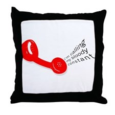 Bloody Constant Throw Pillow