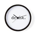 drunk. Wall Clock