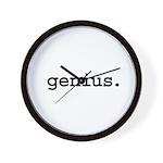 genius. Wall Clock