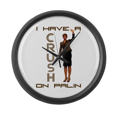 Crush on Palin - 2 Large Wall Clock