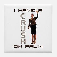 Crush on Palin - 2 Tile Coaster