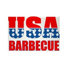 USA Barbecue Rectangle Magnet