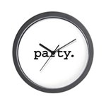 party. Wall Clock