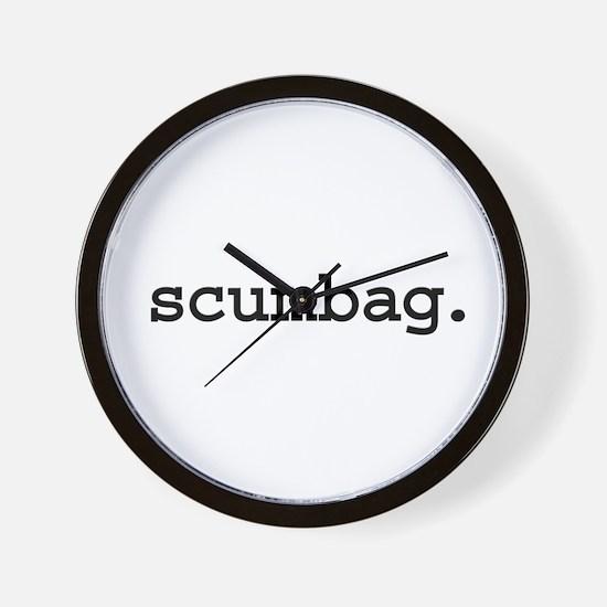 scumbag. Wall Clock