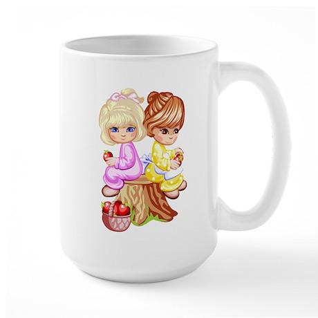 2 Girls Sitting on a Tree Stu Large Mug