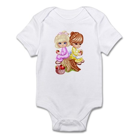 2 Girls Sitting on a Tree Stu Infant Bodysuit