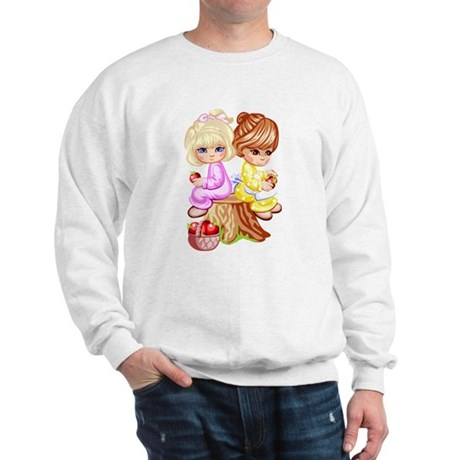 2 Girls Sitting on a Tree Stu Sweatshirt