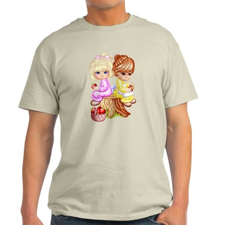 2 Girls Sitting on a Tree Stu Light T-Shirt