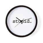 stupid. Wall Clock