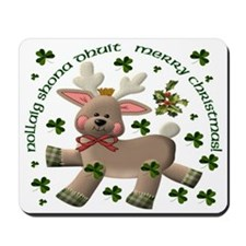 Christmas Reindeer (Irish/English) Mousepad