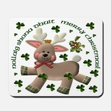 Christmas Reindeer (Irish/English) Mousepad