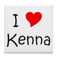 Cute I love kenna Tile Coaster