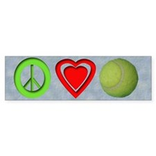 Peace, Love, Tennis Bumper Bumper Sticker
