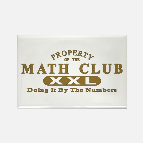 Math Club Rectangle Magnet