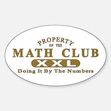 Math Club Oval Decal