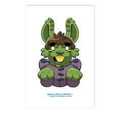 Frankenstien Beunny Postcards (Package of 8)