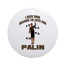 4 Reasons for Palin Ornament (Round)