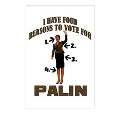 4 Reasons for Palin Postcards (Package of 8)