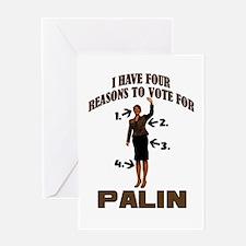 4 Reasons for Palin Greeting Card