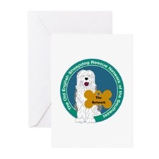Old English Sheepdog Rescue Greeting Cards