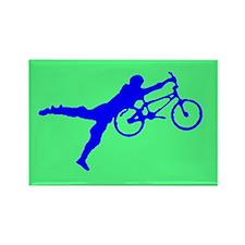 GREEN BLUE BMX Rectangle Magnet (10 pack)