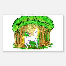 Save the Unicorns Rectangle Sticker 10 pk)