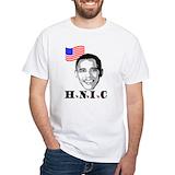 Obama hnic Mens White T-shirts