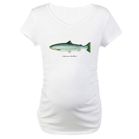 Wild Saltwater Steelhead Fish Maternity T-Shirt